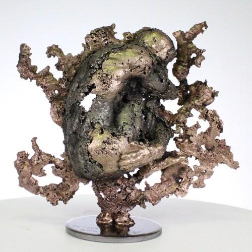 la montagne yogi II Sculpture corps homme dentelle métal et bronze the mountain yogi I body man lace metal steel philippe BUIL