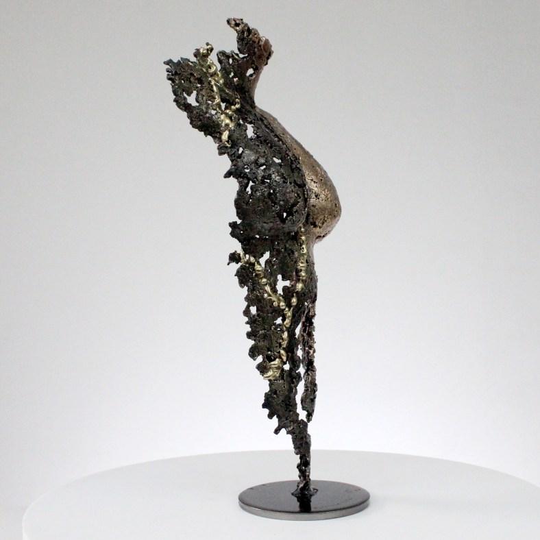 Pavarti Nuances - Sculpture corps femme métal dentelle acier bronze et Laiton - Body Shades woman metal artwork - lace steel, bronze brass - Buil