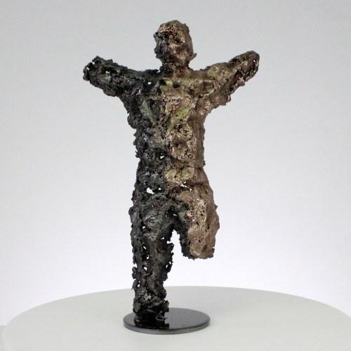 Pavarti Libreté - Sculpture corps homme métal dentelle acier bronze  - Body freedom man metal artwork - lace steel, bronze - Buil