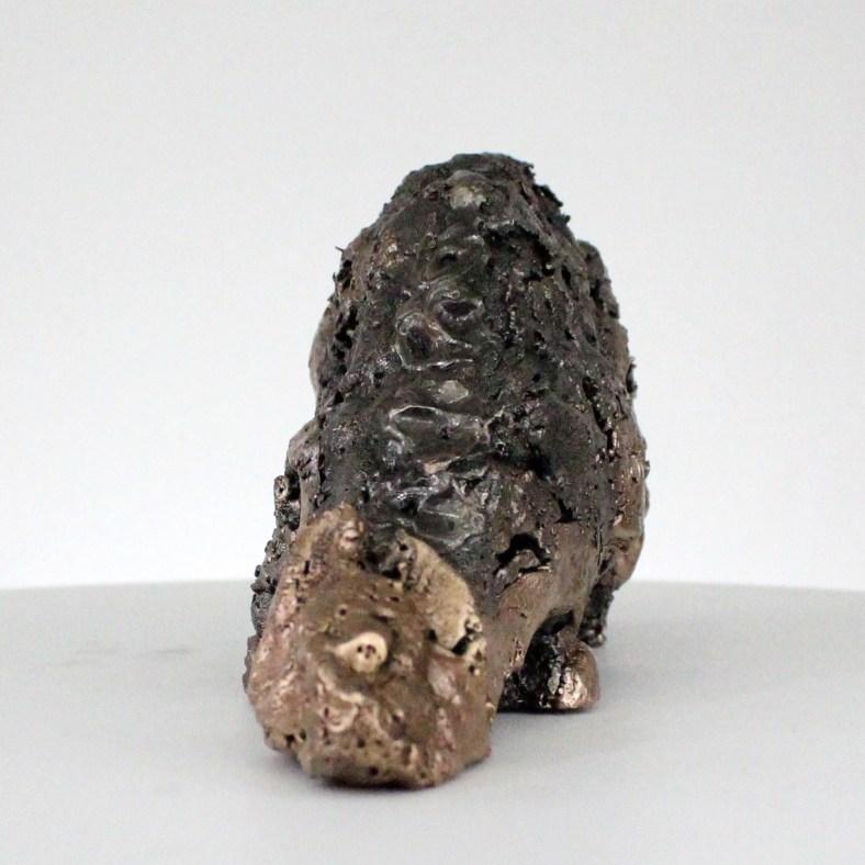 Picouette 73-21- Sculpture animaliere métal - Chouette bronze et acier - animal metal sculpture steel bronze - Buil