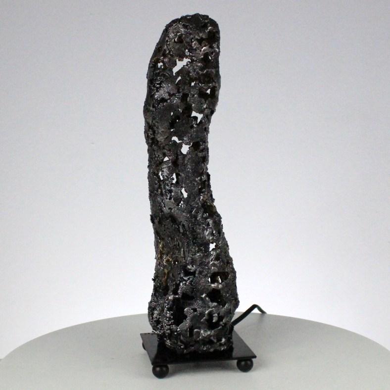 98-21 lampe Sculpture luminaire métal dentelle acier light lamp metal artwork stell Buil
