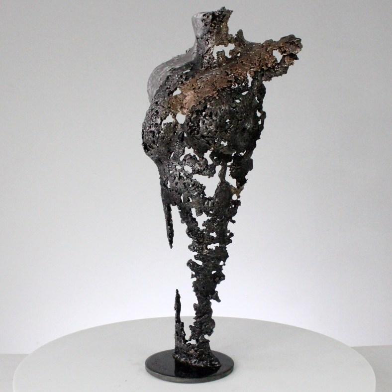 Pavarti belle de nuit - Sculpture corps femme métal dentelle acier bronze Aluminium - Body woman beauty of night metal artwork - lace steel, bronze, aluminium - Buil