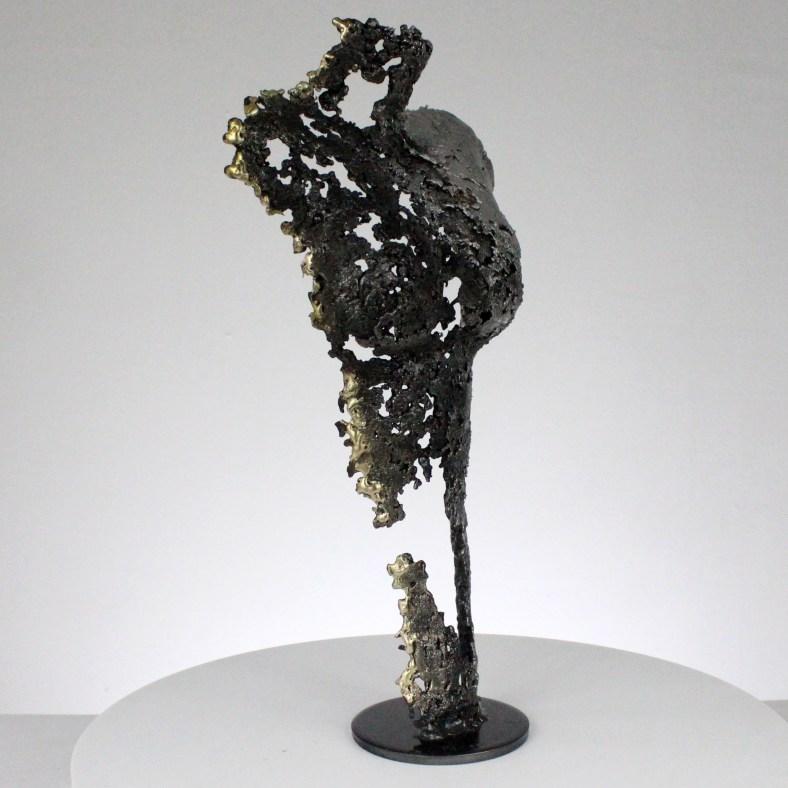Pavarti tempète - Sculpture corps femme métal dentelle acier laiton aluminium - Body woman beauty of night metal artwork - lace steel, brass, aluminium - Buil