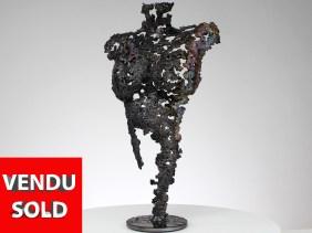 Pavarti - Sculpture corps femme métal dentelle acier bronze - Body woman metal artwork - lace steel, bronze brass - Buil