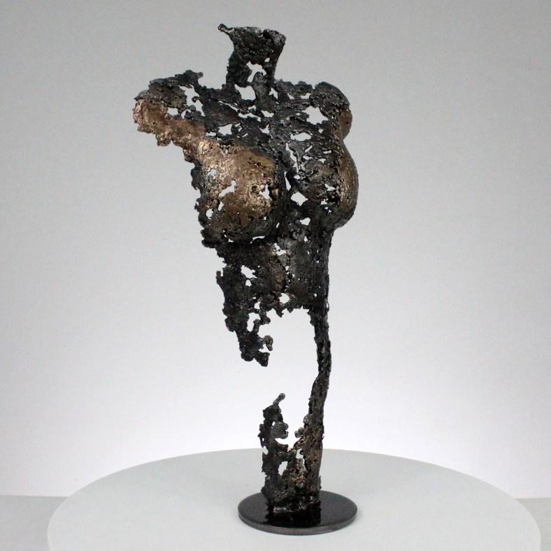 Pavarti ambivalence - Sculpture corps danseuse femme métal dentelle acier bronze - Body woman on first time metal artwork - lace steel bronze - Buil