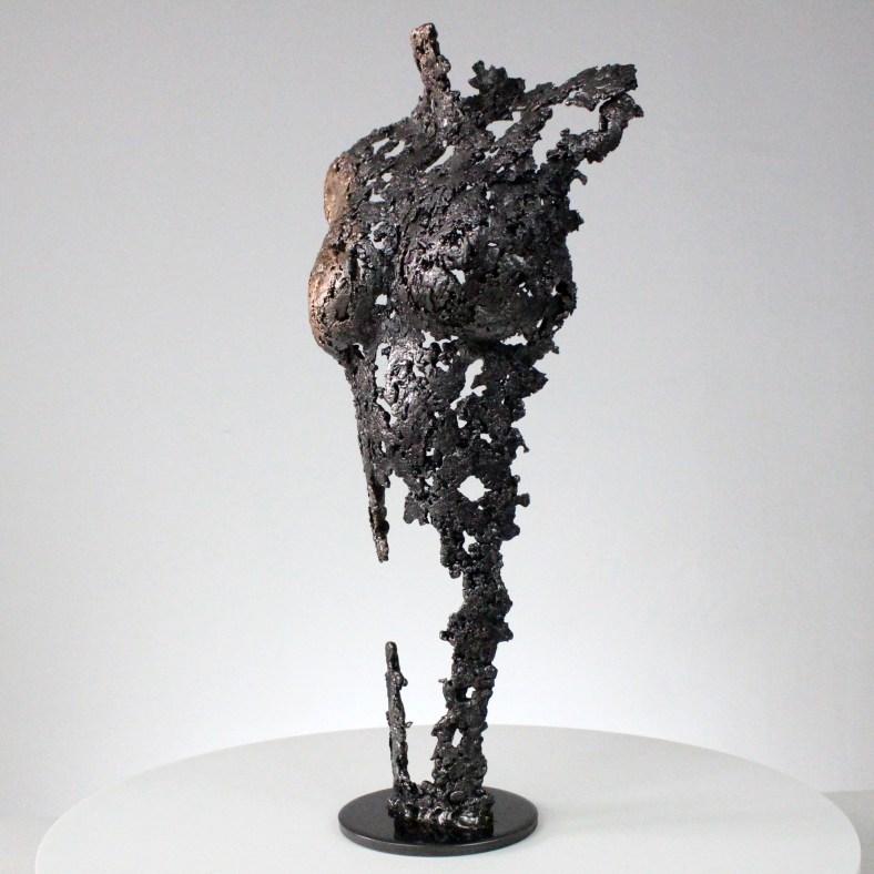 Pavarti induction - Sculpture corps danseuse femme métal dentelle acier bronze - Body woman induction metal artwork - lace steel bronze - Buil