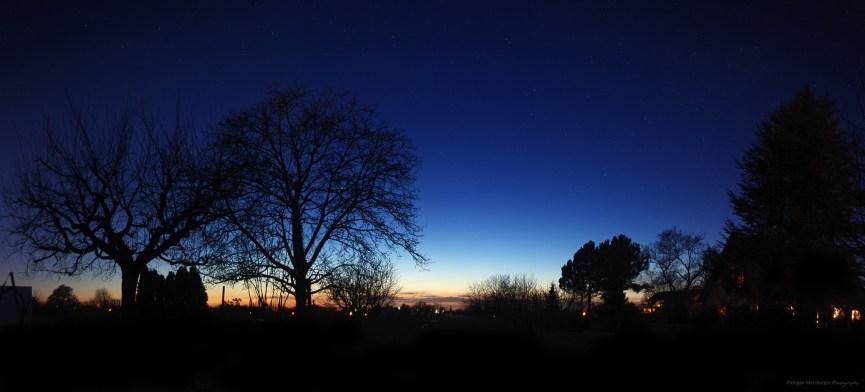 Sérénité d'un crépuscule d'hiver