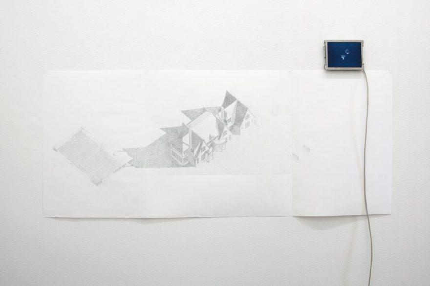 Zeichnung mit Video, Philipp Gasser