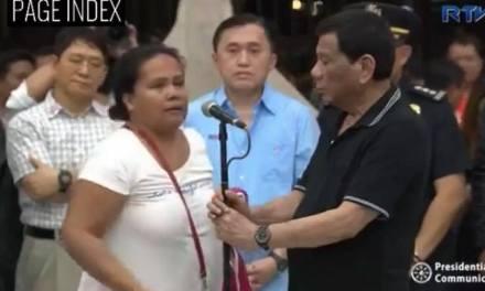 Breaking: Woman who spoke to President Duterte in hiding