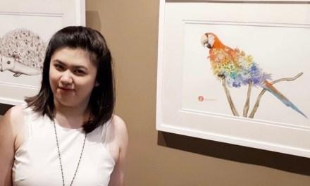 Artist Karissa Narukami's show at The Edge