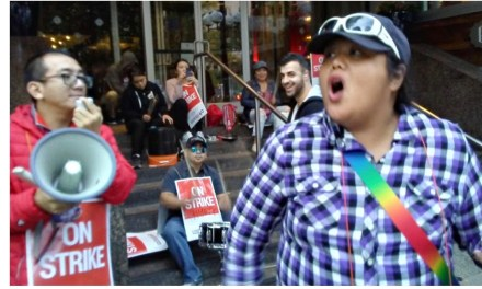 Striking workers hit Hyatt,other hotels
