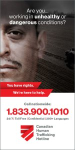 Canadian Human Trafficking Hotline We're here to help Call 1-833-900-1010