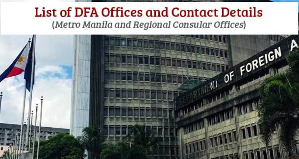 List of DFA Offices and Contact Details