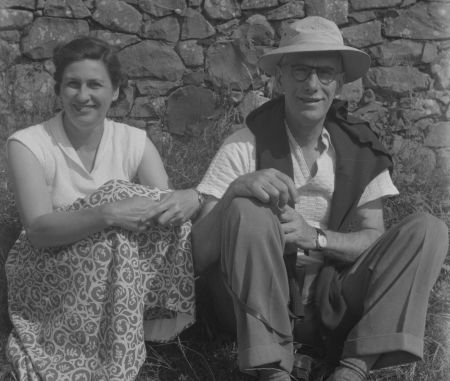 Joan & George Horridge, in Cornwall, 1950s