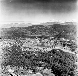 Aerial view of Baguio, 1945