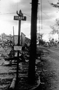 Samar Street cleared of mines, Manila 1945