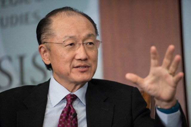 Image result for World Bank president Jim Yong Kim / AFP PHOTO / NICHOLAS KAMM