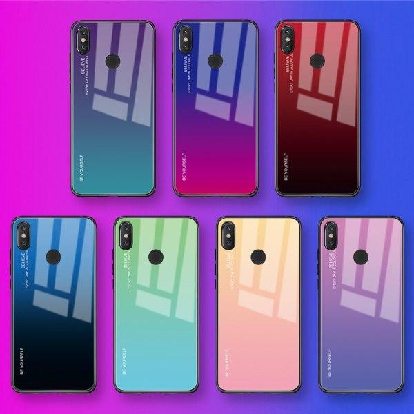 Capa Dura Emborrachada Vidro Temperado Gradiente Essager Be Yourself Xiaomi Mi 8 Lite Img 01