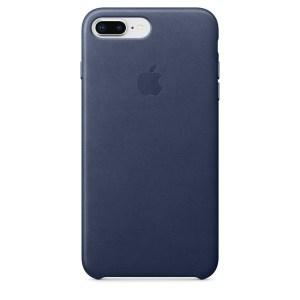 Capa De Couro Para Iphone 8 Plus 7 Plus Azul Meia‑noite Img 01