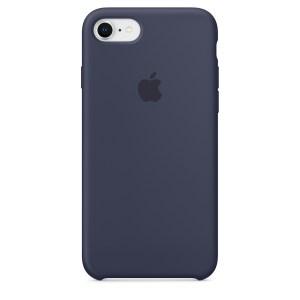 Capa De Silicone Para Iphone 8 7 Azul Meia Noite Img 01