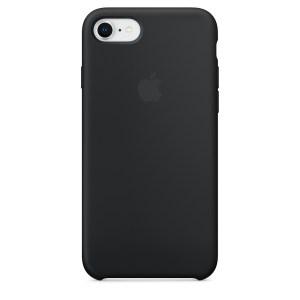 Capa De Silicone Para Iphone 8 7 Preta Img 01