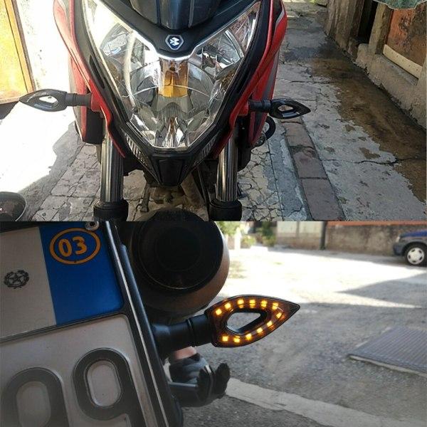 Pisca Seta LED Esportiva Triangular Universal 12V 12 LEDS Moto IMG 16