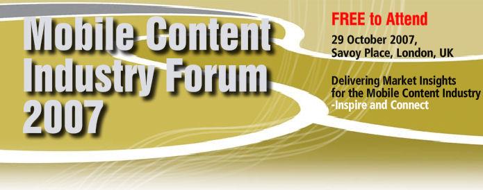 Mobile Content IndustryForum