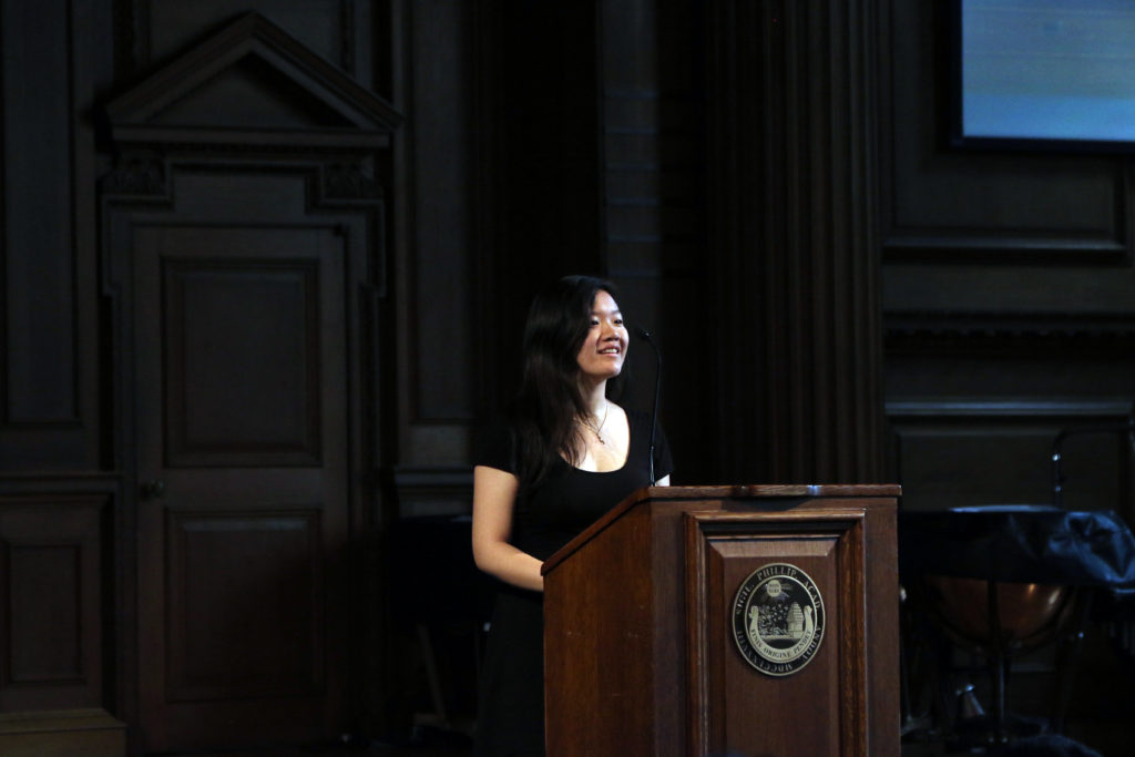 Evelyn Wu '18 spoke about her unique relationship with her grandfather.