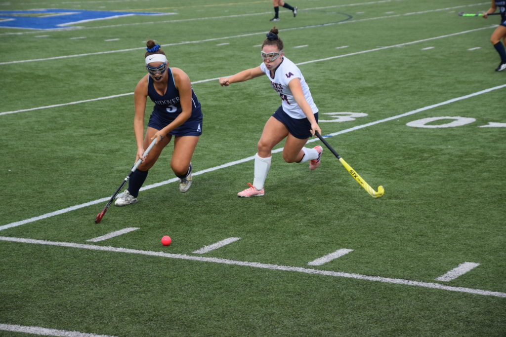 Sarah Rigazio '18 has been playing for Andover Field Hockey since her Lower year.