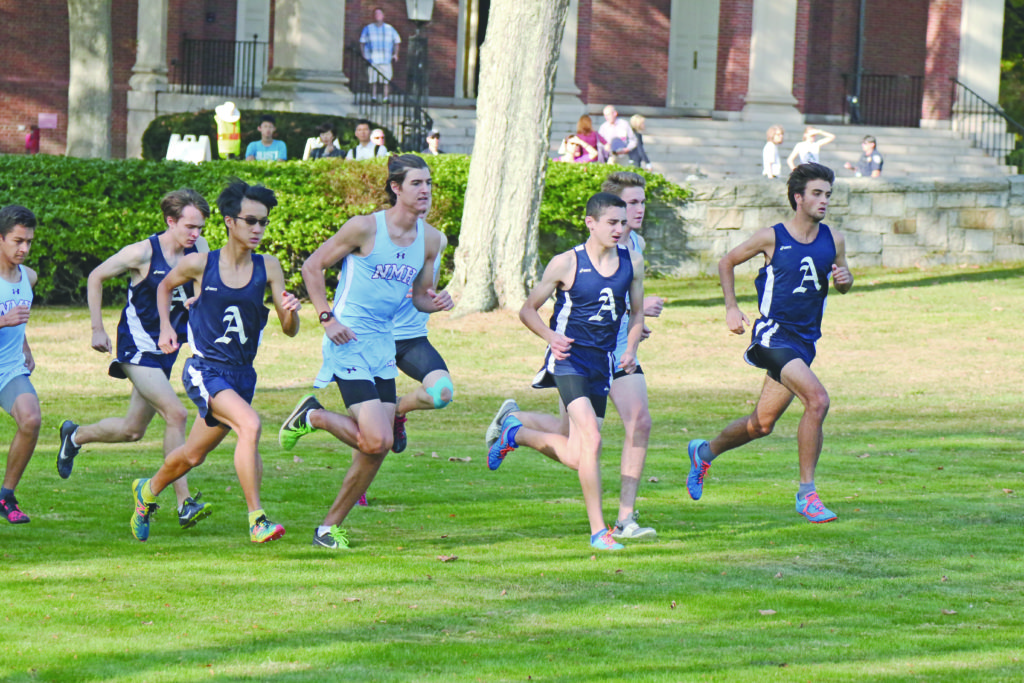Captain Giacamo Marino '18 leads the pack in last week's meet against NMH.