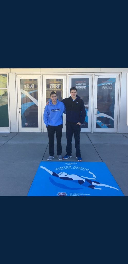 Adam Vlasic '20 and Jack Warden '19 both swim personal best times in their respective events at this year's Speedo Junior Nationals.