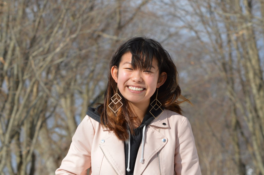 Alice Ren '19 centers her outfits around her jackets and color coordinates the different layers.