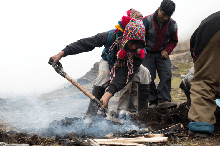 On our last day the village prepares a traditional Pachamanca, or a traditional Peruvian dish cooked underground with hot rocks.