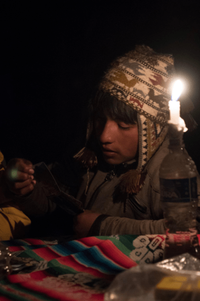 We finished the trip with a game of cards by candlelight, that despite the language barrier, brought us countless laughs.