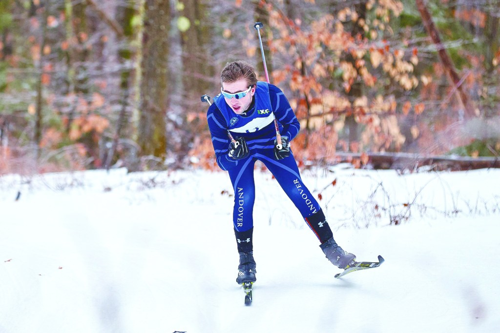 Andover Nordic Races on Snow for First Time This Season