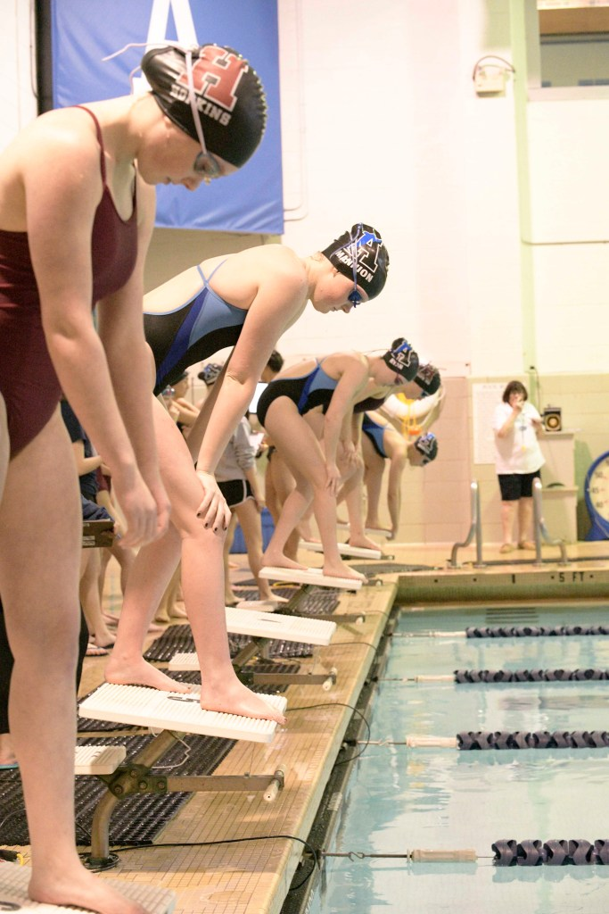 Andover Girls Swimming & Diving  Clinches Tight Win Over Hopkins