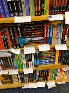 What the shelves looked like in the bookstore