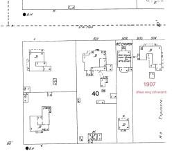 1907 Sanborn Map (west wing still extant)