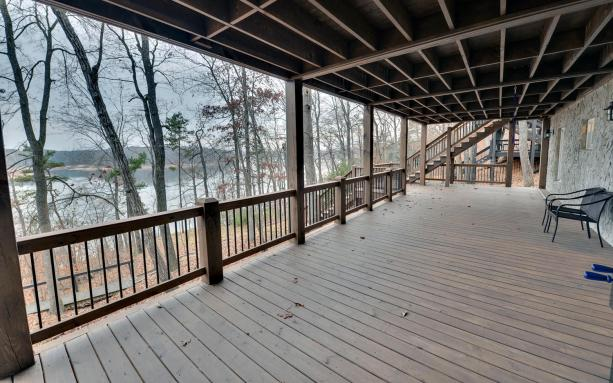 Back deck looking over the lake