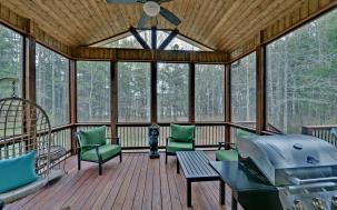 T&G ceilings in a screened in porch.