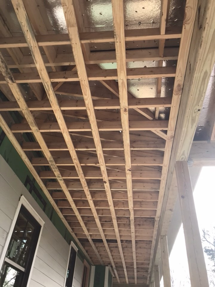 Porch ceiling in progress