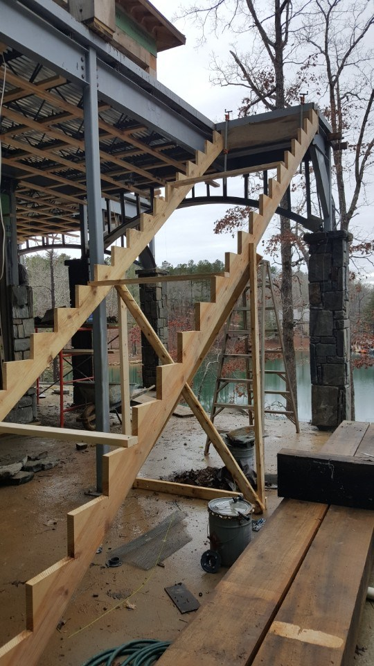 7-stairs being built for deck