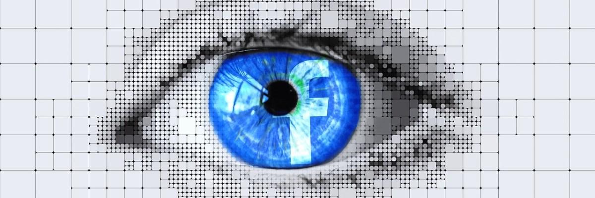 Facebook logo restin in Eye