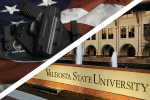 Gun in holster and University campus