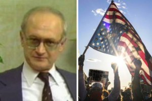 Yuri Bezmenov and anti-American protesters