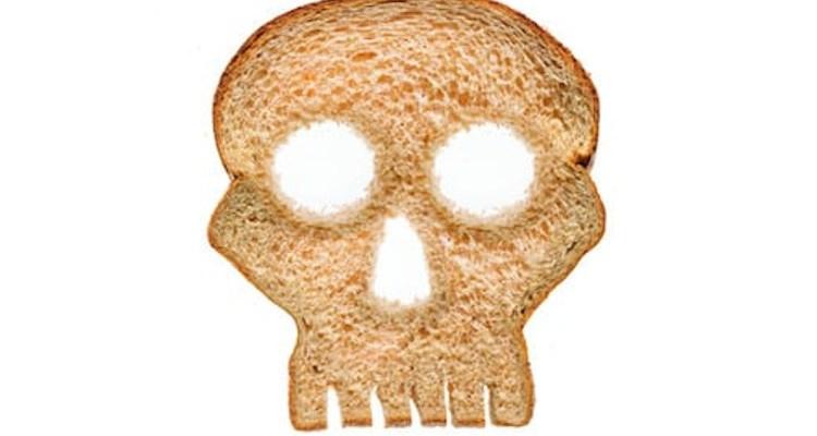 Gluten bread in shape of skull