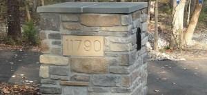 Paver Driveway Mailbox Number