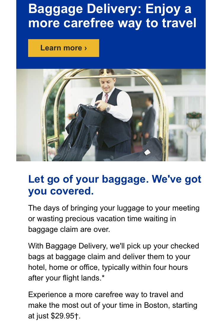 United Airlines Baggage Delivery