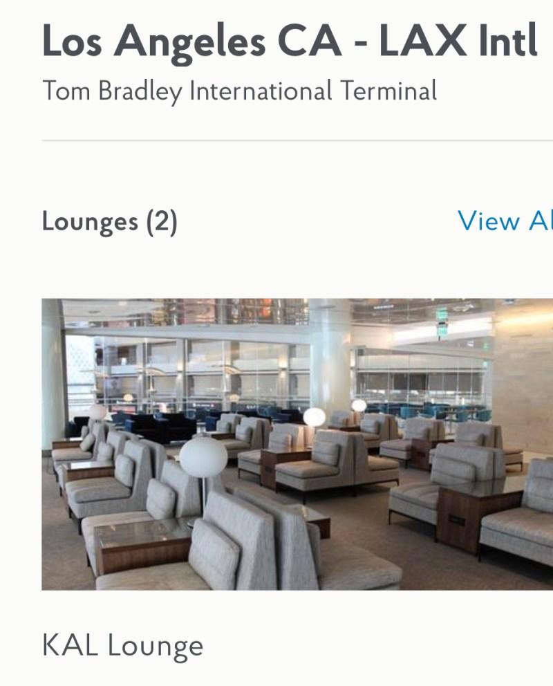 Korean Airlines Lounge Los Angeles