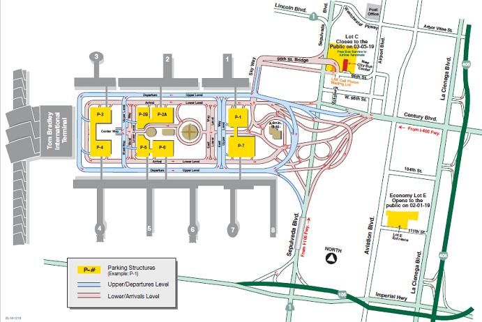 LAX Terminal Map